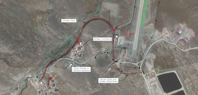 Modification du tracé de la route d'accès à l'aéroport